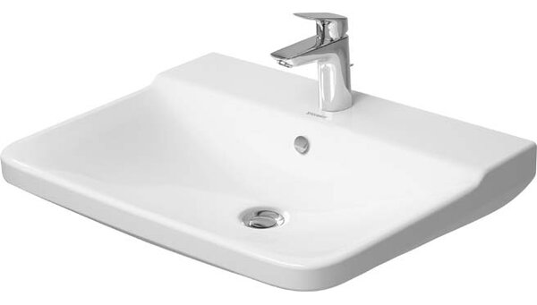 P3 Comforts Ceramic 22 Wall Mount Bathroom Sink with Overflow