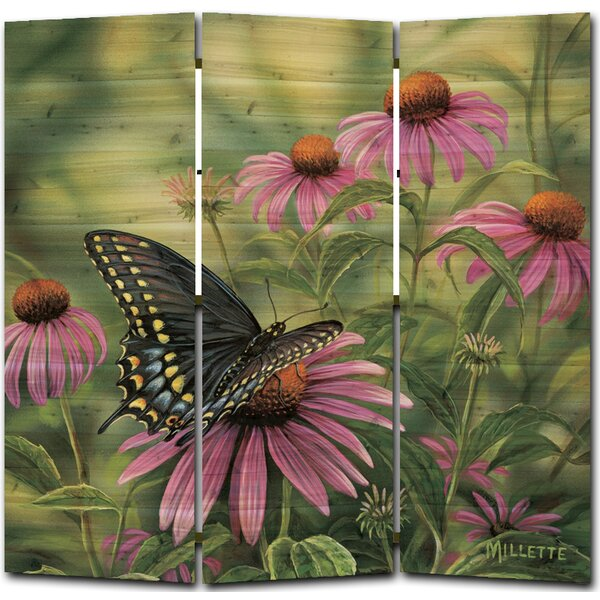 Swallowtail Butterfly 3 Panel Room Divider by WGI-GALLERY
