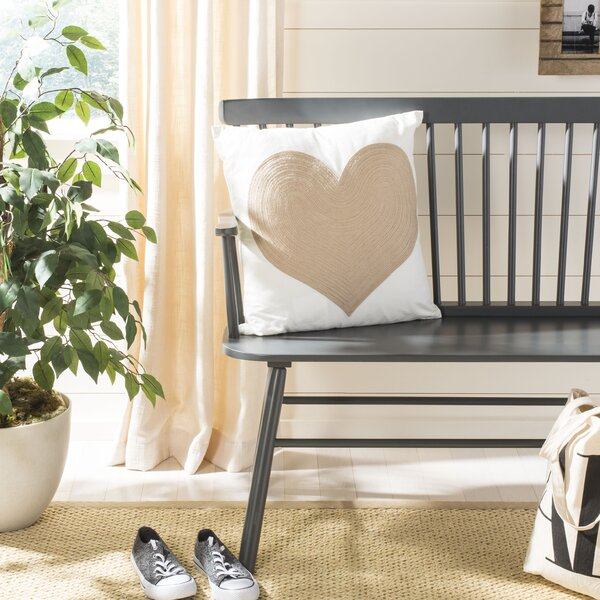 Deaton Heart Cotton Throw Pillow by House of Hampton