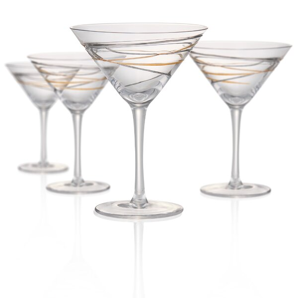 Riemann Martini Remailer 8 oz. Glass Cocktail Glasses (Set of 4) by Orren Ellis
