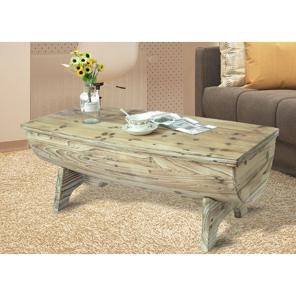 Duboce Vintage Wooden Coffee Table with Storage by Loon Peak