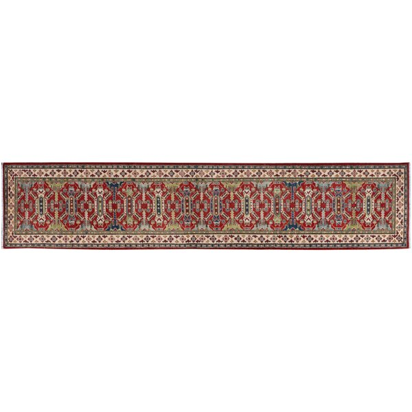 One-of-a-Kind Faulks Hand-Knotted Wool Red/Ivory Area Rug by Isabelline