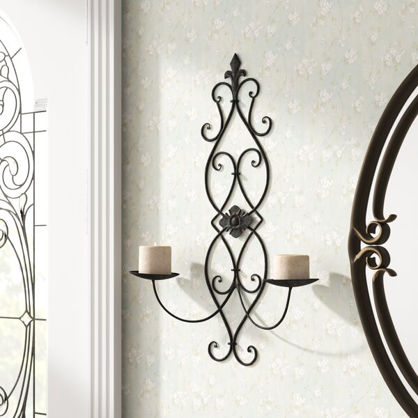 Iron Wall Sconce Candle Holder by Lark Manor