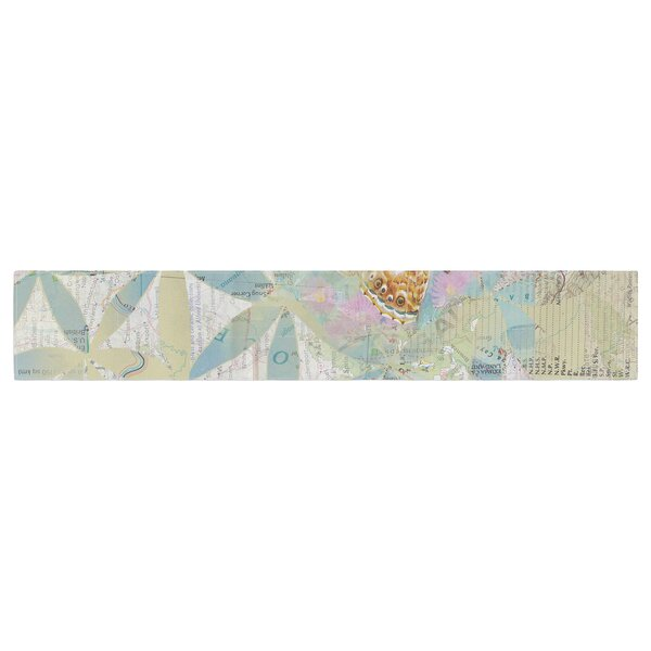 Catherine Holcombe Miraculous Recovery Butterfly Table Runner by East Urban Home