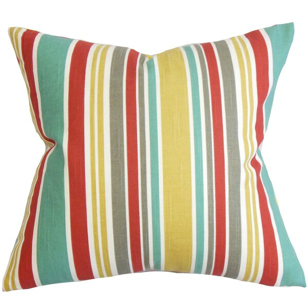 Kirsi Stripe Cotton Throw Pillow by The Pillow Collection