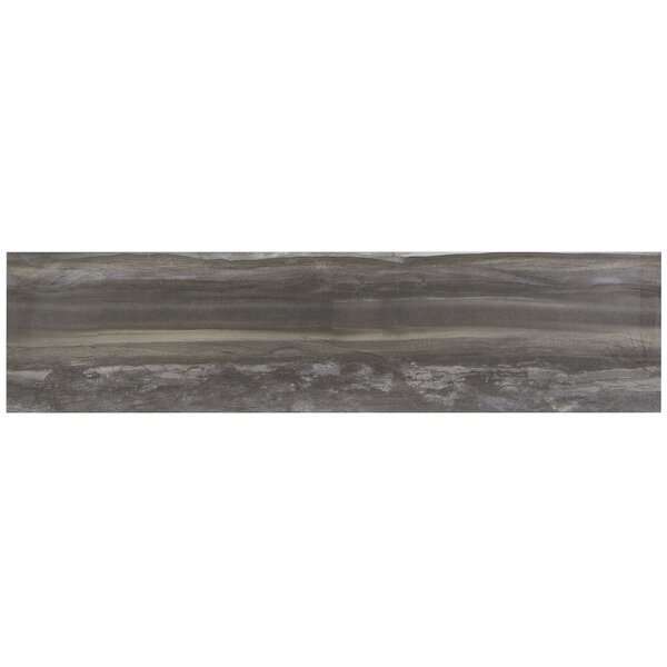 Mansfield 6 x 24 Porcelain Wood Look Tile in Smoky River by Itona Tile