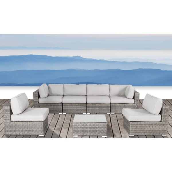 Deandra 7 Piece Rattan Sectional Seating Group with Cushions by Sol 72 Outdoor