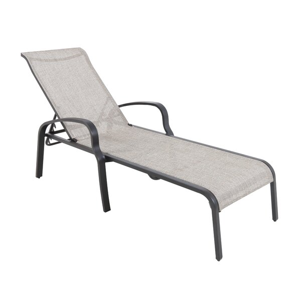 Atmore Stacking Sling Reclining Chaise Lounge (Set of 4) by Canora Grey