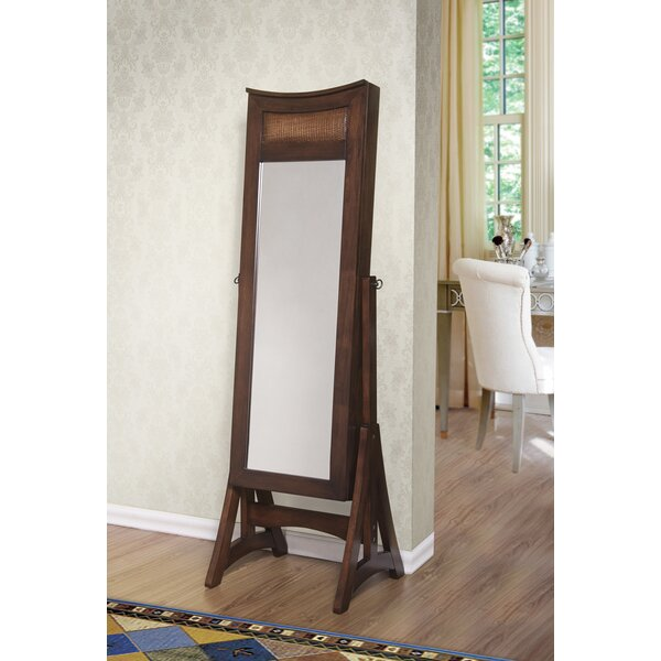 Janine Free Standing Jewelry Armoire with Mirror by Bloomsbury Market