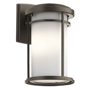Affordable Scot 1-Light Glass Shade Outdoor Sconce By Ivy Bronx