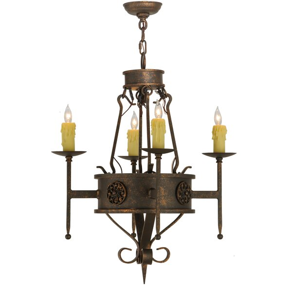 4 - Light Candle Style Empire Chandelier By Meyda Tiffany
