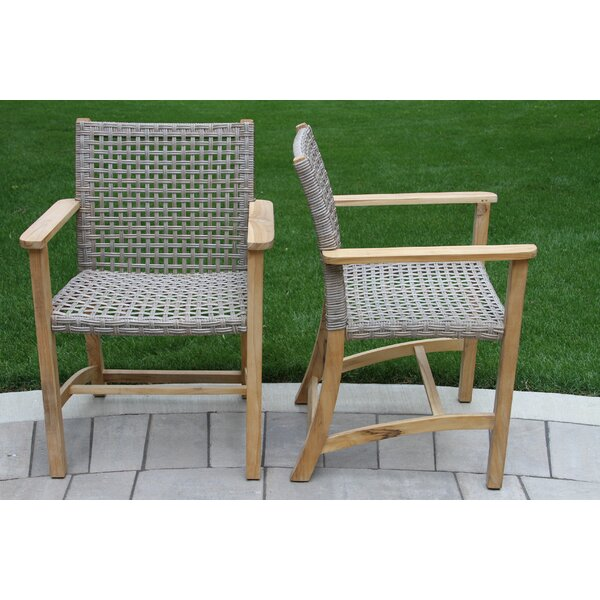 Tibbitts Teak Patio Dining Chair (Set of 2) by Mistana