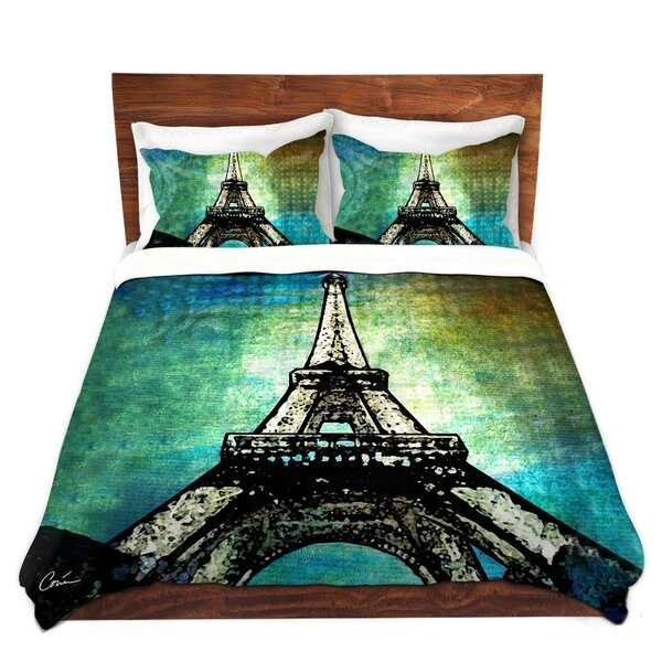 Paris Eiffel Tower Night Duvet Cover Set