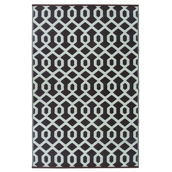 Lightweight Reversible Coco Brown/Ivory Indoor/Outdoor Area Rug by Wildon Home ®