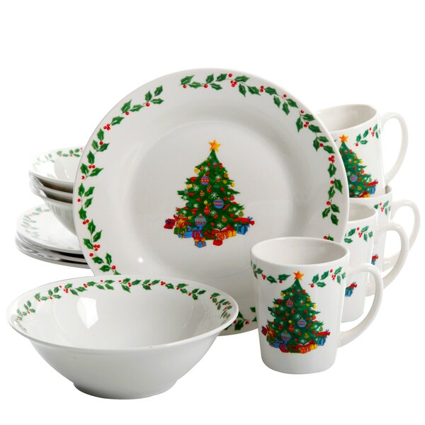 Downing Gathering Decorated 12 Piece Dinnerware Set, Service for 4 by The Holiday Aisle