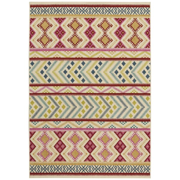 Pillar Blossom Pink Indoor/Outdoor Area Rug by Union Rustic