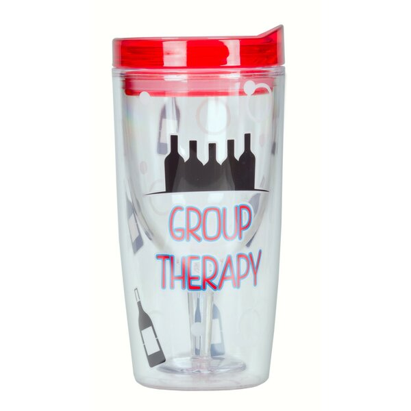 Carmorn Group Therapy Insulated 10 oz. Wine Tumbler by Winston Porter