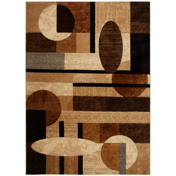 Nolan Patterned Brown/Tan Area Rug by Zipcode Design