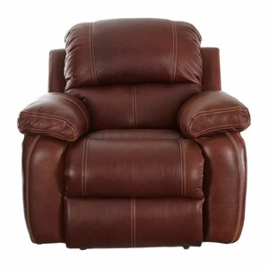 Majandra Leather Manual Recliner by Darby Home Co
