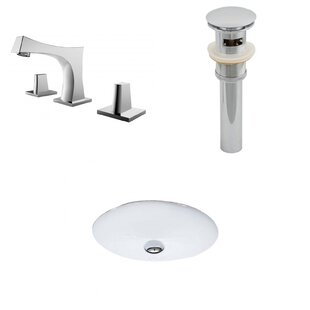 Online Reviews Ceramic Oval Undermount Bathroom Sink with Faucet and Overflow By American Imaginations