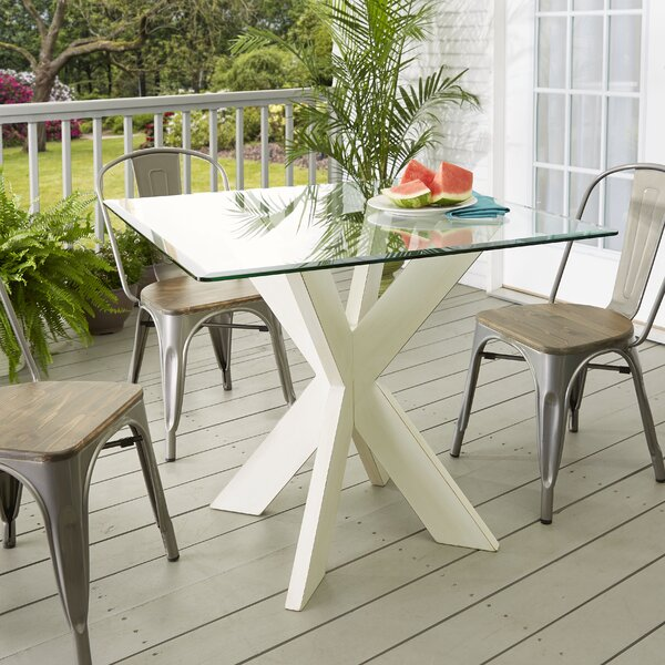 Barnhart X-Base Solid Wood Dining Table by Union Rustic