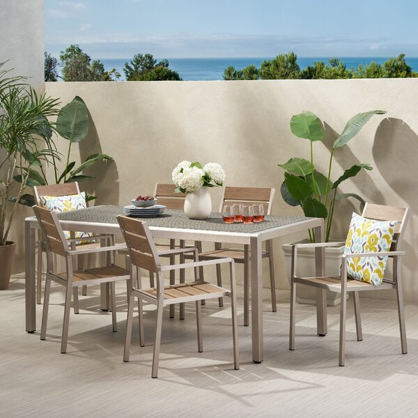 Lineberry Coral 7 Piece Dining Set by Ivy Bronx