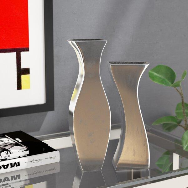 Hadiya Adjoining 2 Piece Table Vase Set by Orren Ellis