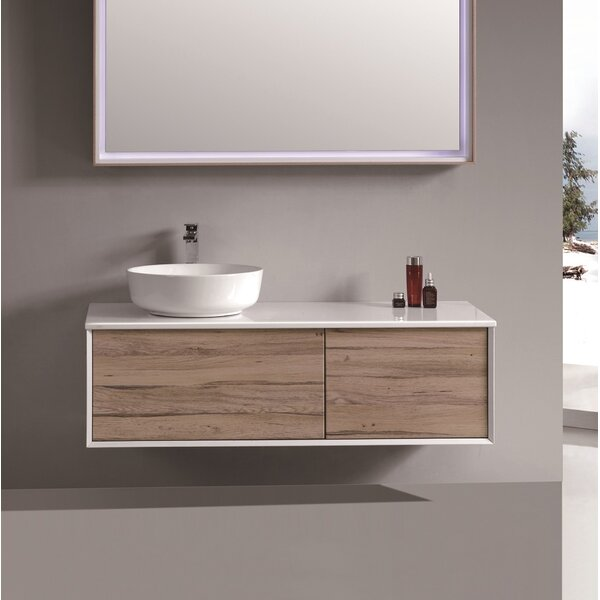 Perillo 47 Wall-Mounted Single Bathroom Vanity Set by George Oliver