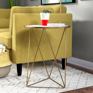 Arguelles Cross Legs End Table by Mercury Row