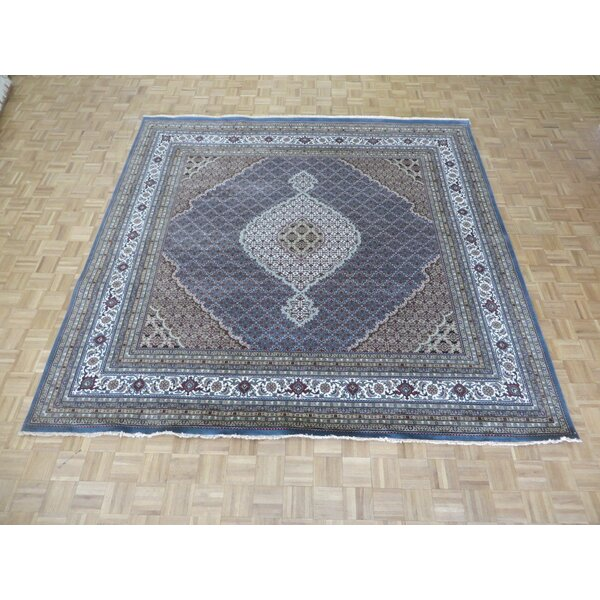 One-of-a-Kind Raiden Hand-Knotted Wool Blue Area Rug by Astoria Grand