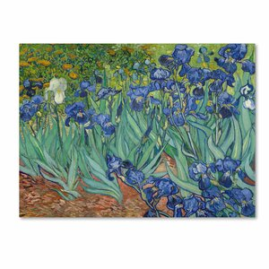 Irises, 1889 by Vincent van Gogh Painting Print on Wrapped Canvas by Trademark Fine Art
