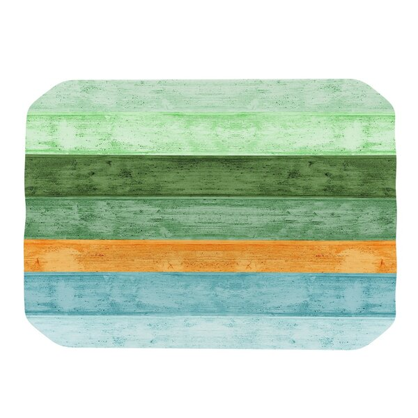 Beach Wood 4 Piece Placemat Set by KESS InHouse