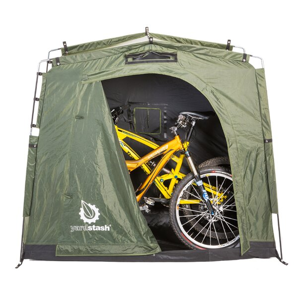 The YardStash III 6 ft. 2 in. W x 2 ft. 6 in. D Plastic Portable Bike Shed by Yardstash Solutions