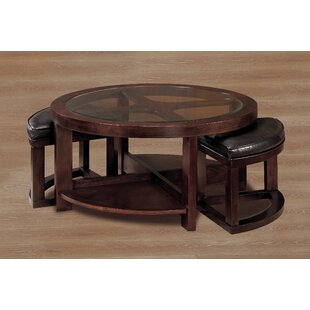 Reviews 3219 Series Coffee Table with 2 Ottomans By Woodhaven Hill