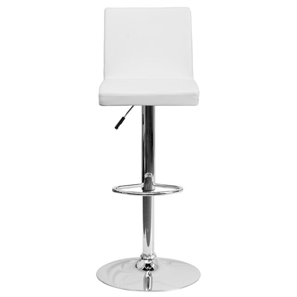 Compton Martin Adjustable Height Swivel Bar Stool (Set of 2) by Wade Logan