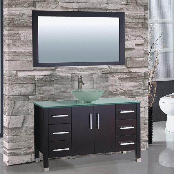 Prado 48 Single Sink Bathroom Vanity Set with Mirror by Orren Ellis
