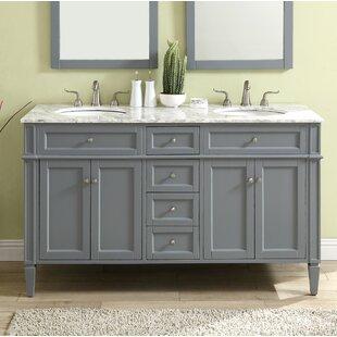 Best Reviews Bedonia 60 Double Bathroom Vanity Set ByDarby Home Co