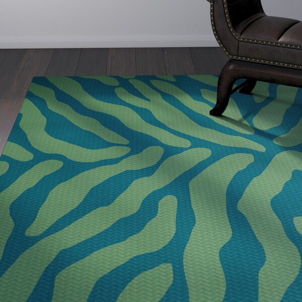Kam Teal Area Rug by Bloomsbury Market