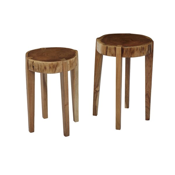 Wingfield Solid Wood End Table (Set Of 2) By Union Rustic