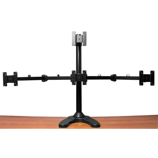 Quad LCD Monitor Freestanding Tilt and Swivel Desk