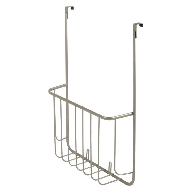 Mesh Bronze Over Cabinet Door Storage Basket In Kitchen Or Pantry