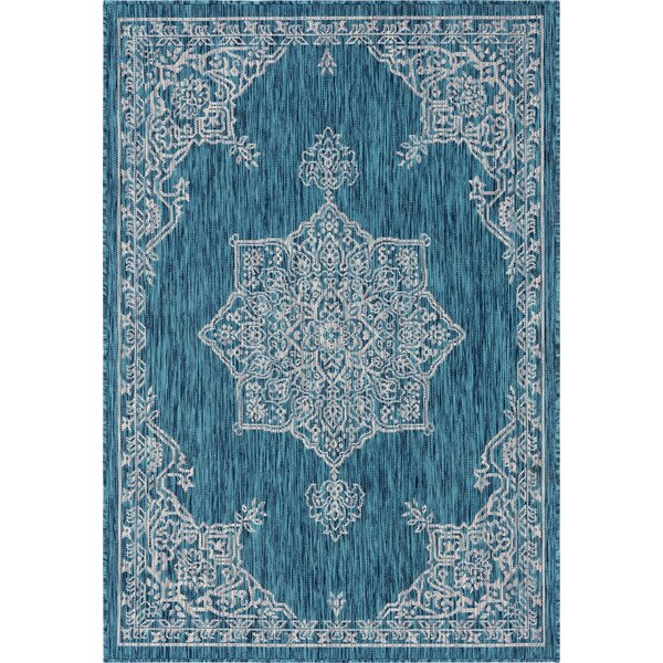 Craighead Blue/Gray Indoor/Outdoor Area Rug by Charlton Home