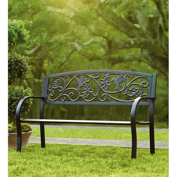 Shelby Hummingbird Aluminum Garden Bench by Rosalind Wheeler Rosalind Wheeler