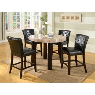 Mishelle 5 Piece Counter Height Dining Set By Red Barrel Studio