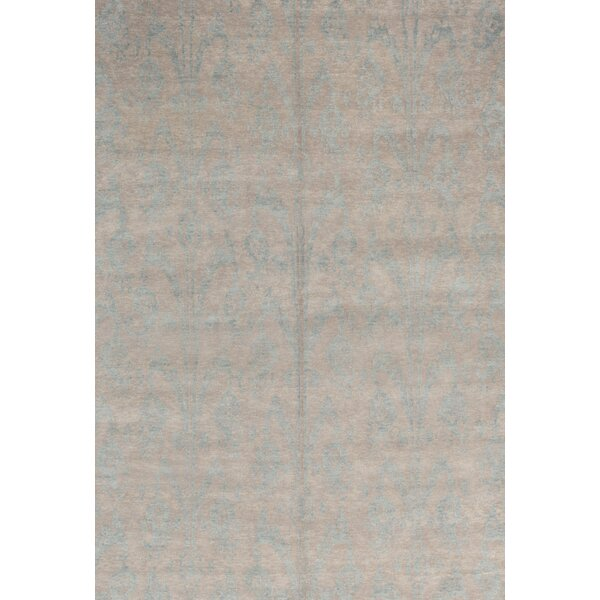 Himalayan Ikat Hand-Knotted Beige Area Rug