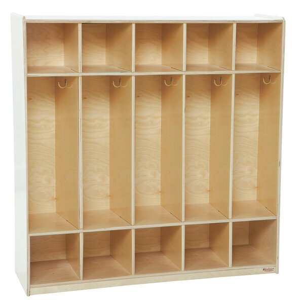 5 Section Coat Locker by Wood Designs