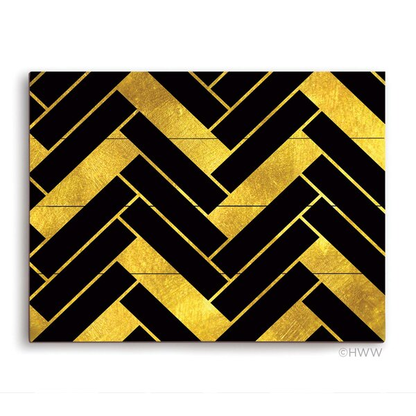 Chevron Pattern Graphic Art Plaque by Click Wall Art