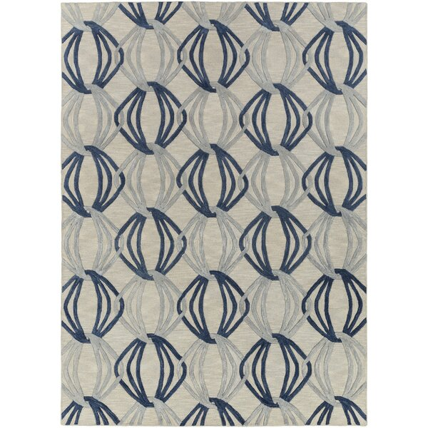 Stow Light Gray/Blue Area Rug by George Oliver