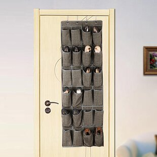 Read Reviews 24 Pair Hanging Shoe Organizer By Rebrilliant