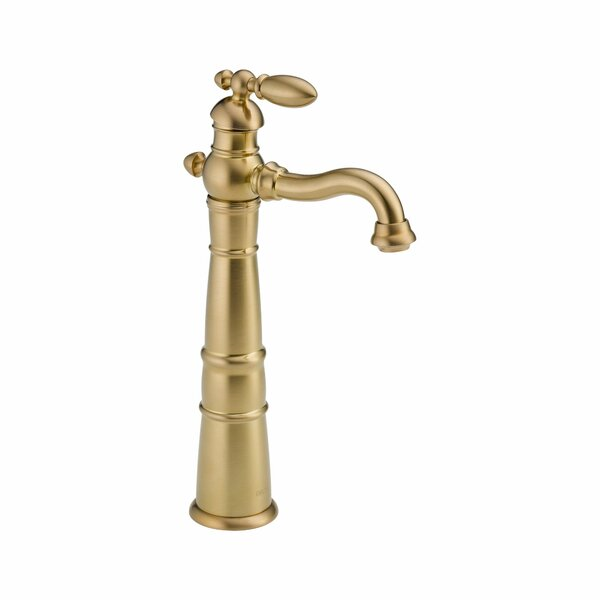 Victorian Single hole Bathroom Faucet and Diamond Seal Technology by Delta
